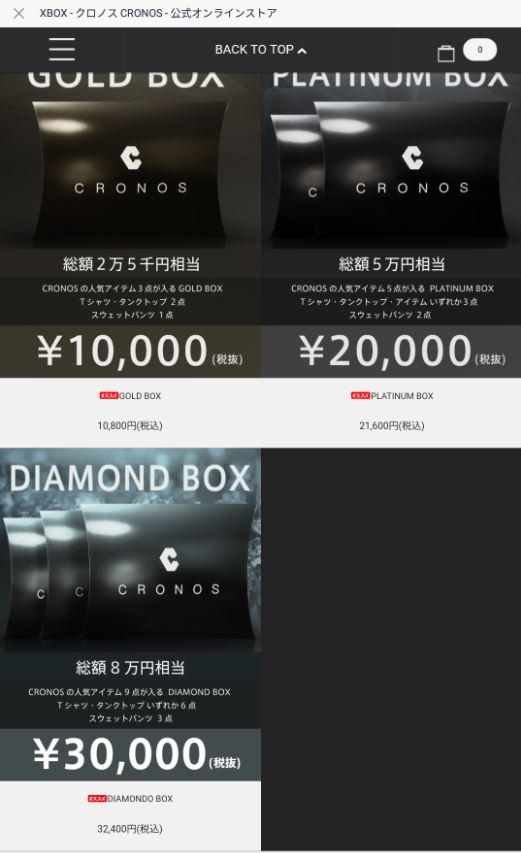 CRONOS Xmas Box 2018 中身編 (中身公開しているので注意!)