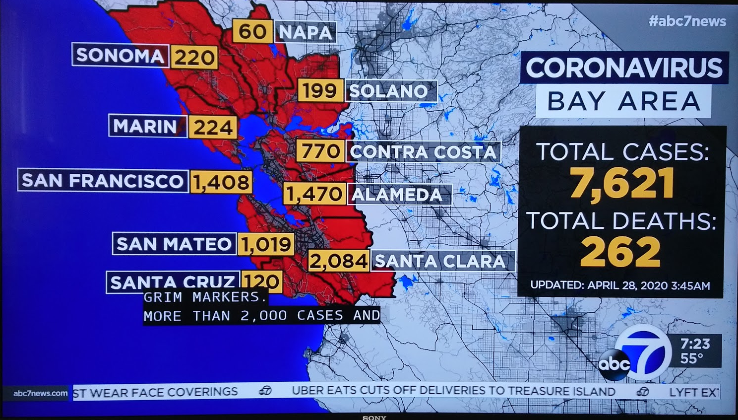 アメリカの新型コロナの状況 2020年04月27日