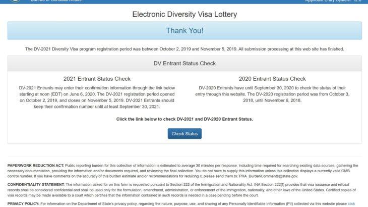 【DV-2021】KCCに連絡して面接地を無事に変更!?