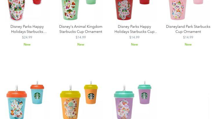 【アメリカ限定】Starbucks x Disney のクリスマスマグとオーナメント登場!!